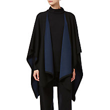 Buy Winser London Merino Wool Reversible Poncho, Black/Midnight Navy Online at johnlewis.com