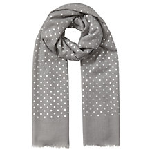 Buy East Wool Spotted Scarf, Grey Online at johnlewis.com