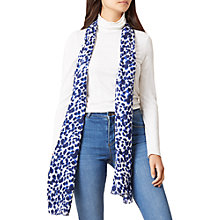 Buy Hobbs Sofia Animal Print Scarf, Multi Blue Online at johnlewis.com