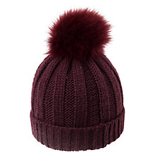 Buy French Connection Pom Pom Beanie Hat, One Size Online at johnlewis.com
