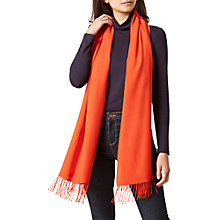 Buy Hobbs Matilda Pashima Scarf, Tiger Orange Online at johnlewis.com