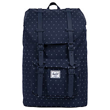 Buy Herschel Supply Co. Little America Mid-Volume Backpack, Peacoat Grid Online at johnlewis.com