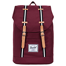 Buy Herschel Supply Co. Retreat Backpack, Windsor Wine Stripe Online at johnlewis.com