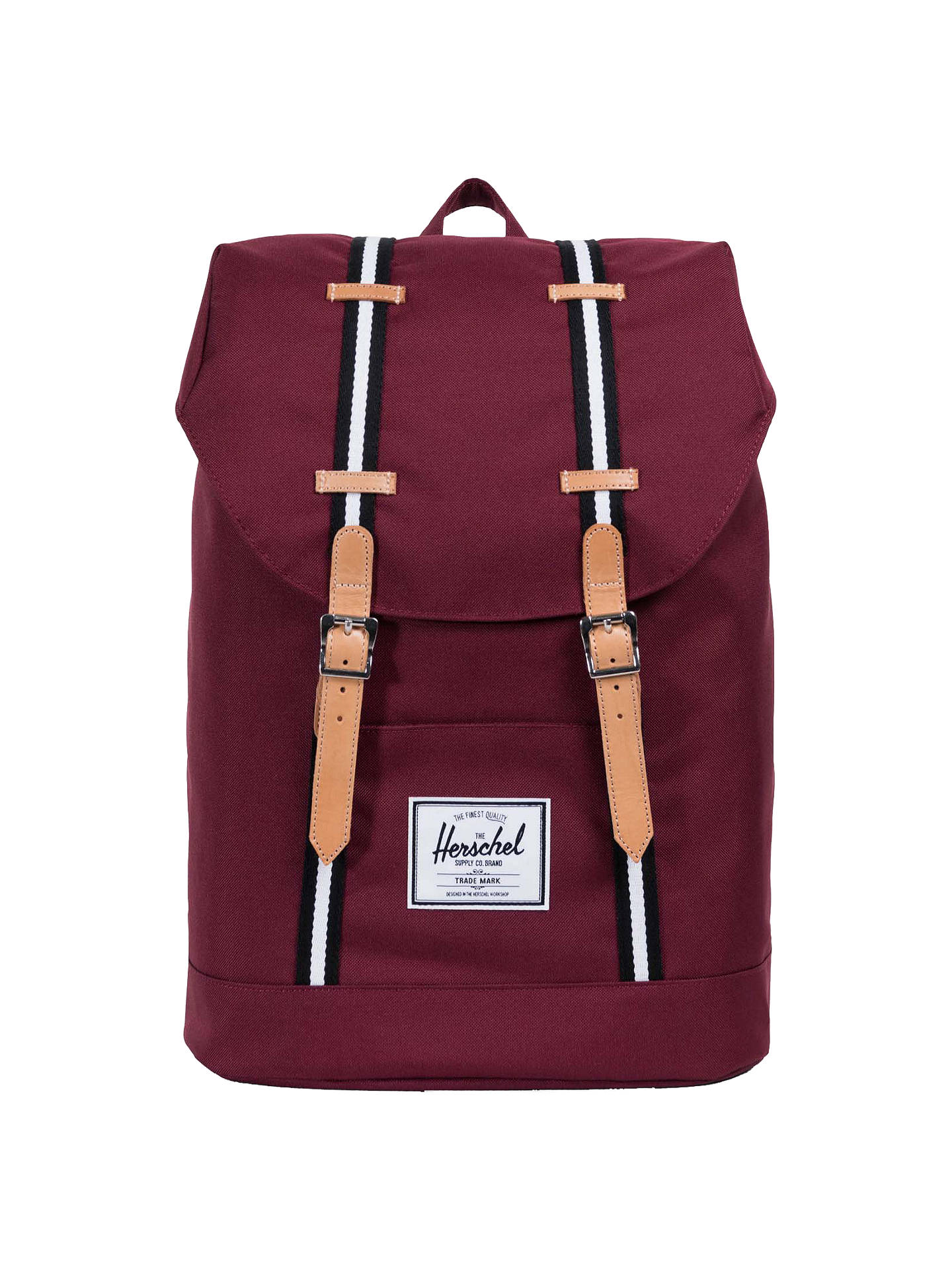 3675b9df9 Buy Herschel Supply Co. Retreat Backpack, Windsor Wine Stripe Online at  johnlewis.com ...