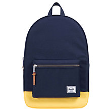 Buy Herschel Supply Co. Settlement Backpack, Blue/Yellow Online at johnlewis.com