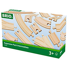 Buy Brio Intermediate Train Track Expansion Pack Online at johnlewis.com