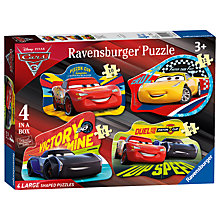 Buy Ravensburger Disney Pixar Cars 3 Jigsaw Puzzle, Pack of 4 Online at johnlewis.com