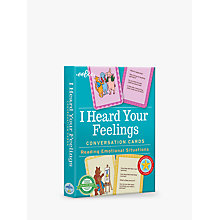 Buy Eeboo I Heard Your Feelings Conversation Cards Online at johnlewis.com