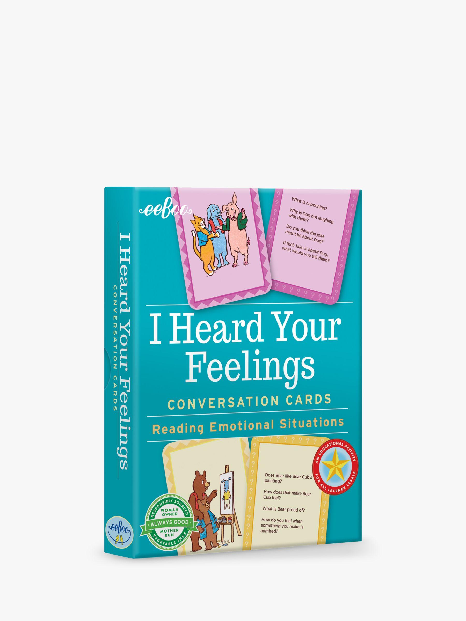 Eeboo eeBoo I Heard Your Feelings Conversation Cards