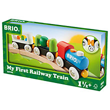 Buy Brio My First Railway Train Set Online at johnlewis.com