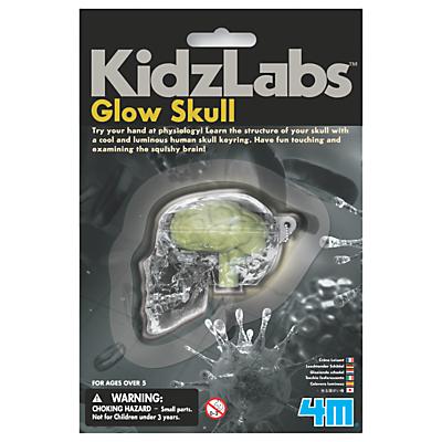 Image of 4M Kidzlabs Glow Skull Keyring