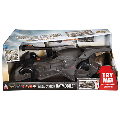 DC Justice League Mega Cannon Batmobile
