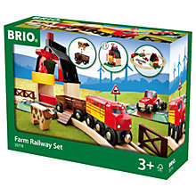 Buy Brio Farm Railway Set Online at johnlewis.com
