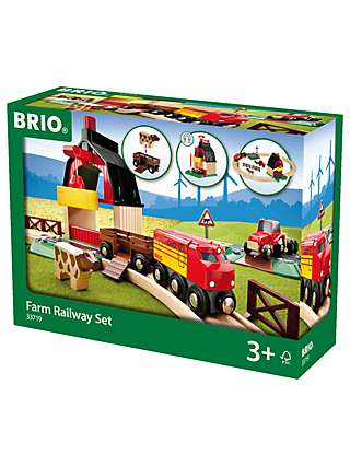 BRIO World Farm Railway Set, FSC-Certified (Beech)