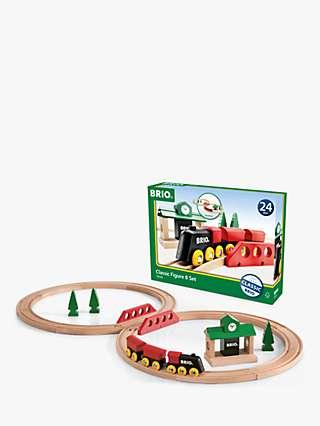 BRIO Classic Railway Figure 8 Train Set, FSC-Certified (Beech)