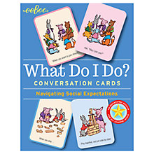 Buy Eeboo What Do I Do Conversation Cards Online at johnlewis.com