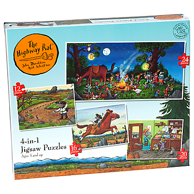 Image of Ravensburger The Highway Rat 4-in-1 Jigsaw Puzzle