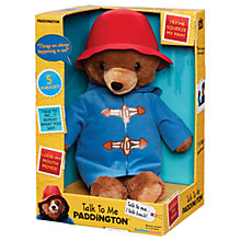 Buy Paddington Bear Talk To Me Paddington Online at johnlewis.com