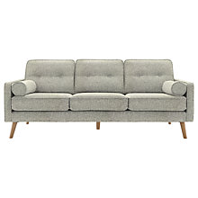 Buy G Plan Vintage The Sixty Five Large 3 Seater Sofa, Ash Leg, Etch Granite Online at johnlewis.com