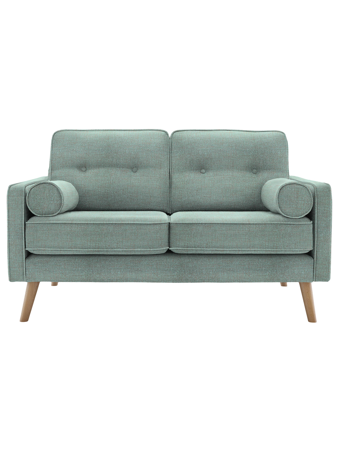 BuyG Plan Vintage The Sixty Five Small 2 Seater Sofa, Flurry Aqua Online at johnlewis.com