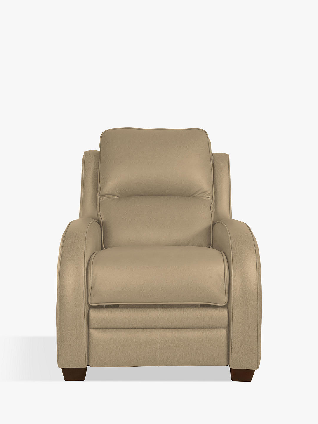 Buy Parker Knoll Charleston Leather Power Recliner Armchair, Como Taupe Leather Online at johnlewis.com