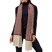 Buy Hobbs Hannah Wool Blend Scarf, Red/Multi Online at johnlewis.com