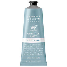 Buy Crabtree & Evelyn Goatmilk & Oat Soothing Hand Therapy, 100ml Online at johnlewis.com