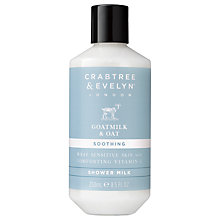 Buy Crabtree & Evelyn Goatmilk & Oat Shower Milk, 250ml Online at johnlewis.com