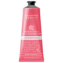 Buy Crabtree & Evelyn Rosewater & Pink Peppercorn Hydrating Hand Therapy, 100ml Online at johnlewis.com