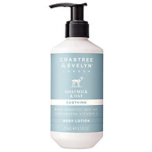 Buy Crabtree & Evelyn Goatmilk & Oat Soothing Body Lotion, 250ml Online at johnlewis.com