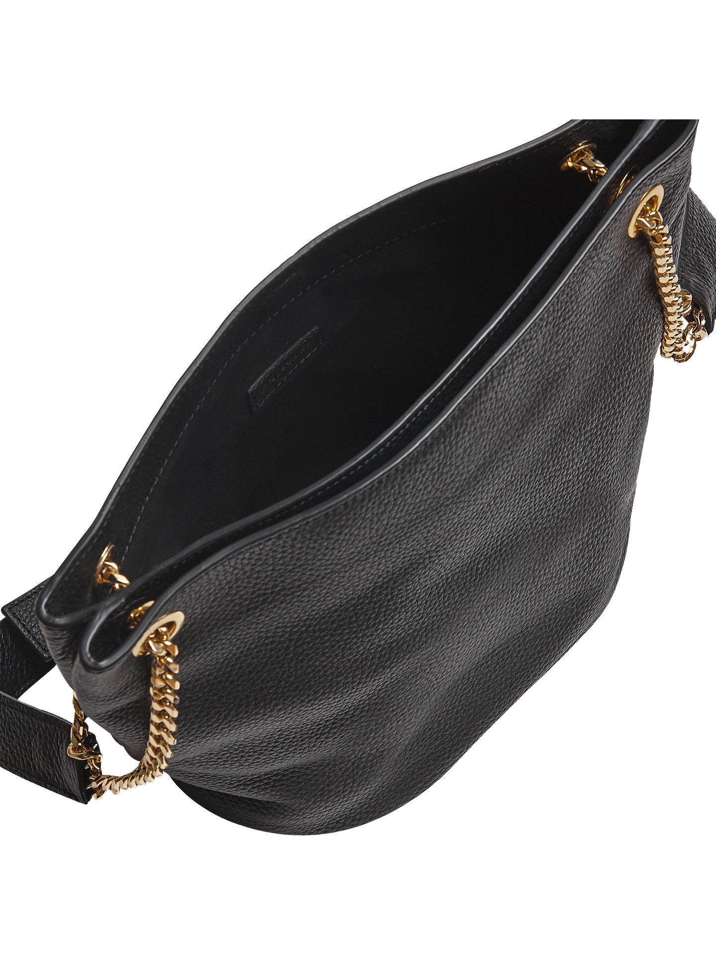 b33b86217940 ... BuyWhistles Sloane Leather Chain Slouch Shoulder Bag