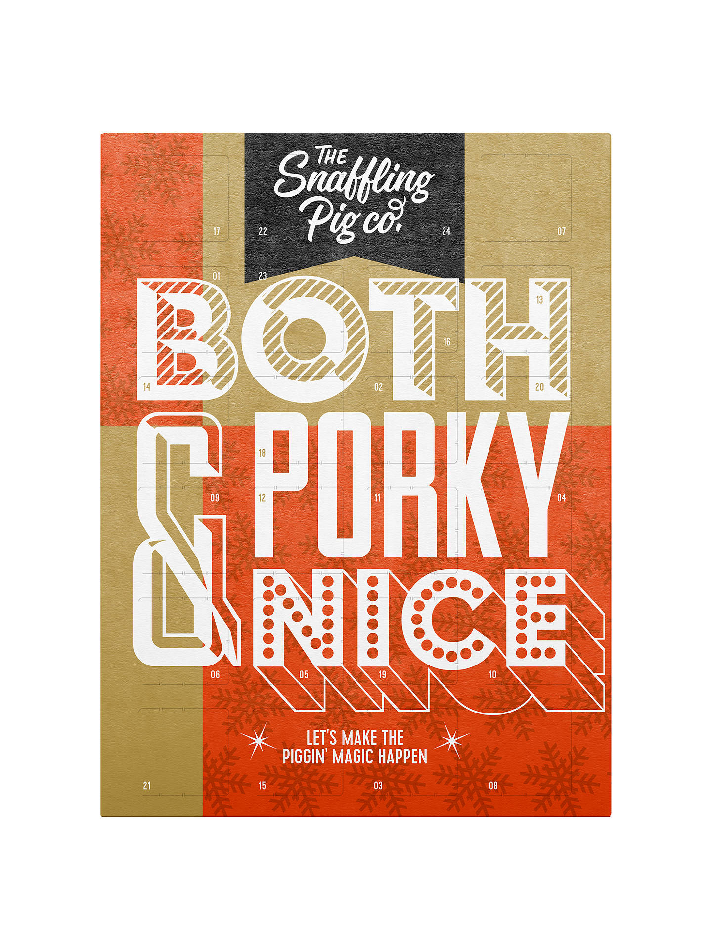 BuyThe Snaffling Pig Co. Pork Crackling Advent Calendar, 168g Online at johnlewis.com