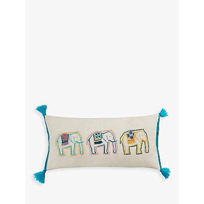 John Lewis Fusion Elephant Cushion, Multi