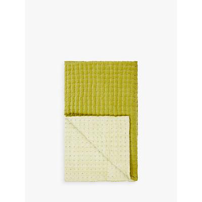 John Lewis Boutique Hotel Contrast Velvet Quilted Bedspread, Citrine