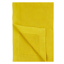 Buy John Lewis Rye Plain Knit Throw, Saffron Online at johnlewis.com