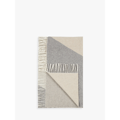 Product photo of John lewis croft collection placement wool throw grey