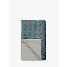 Buy Croft Collection Velvet Quilted Bedspread, Slate Online at johnlewis.com