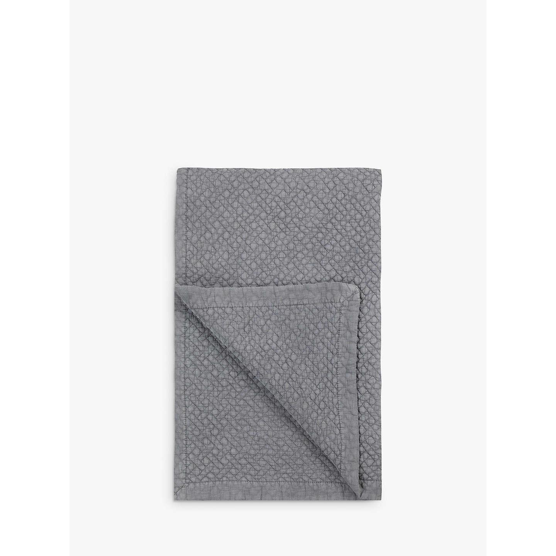 John Lewis Chevron Bedspread Grey at John Lewis