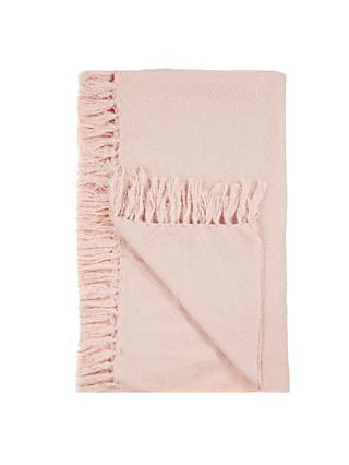 John Lewis & Partners Relaxed Country Florence Throw, Pink