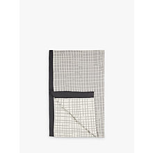 Buy House by John Lewis Grid Throw, Grey / Natural Online at johnlewis.com