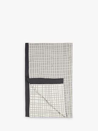 House by John Lewis Grid Throw, Grey / Natural