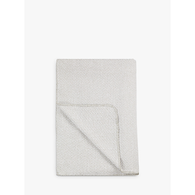 Croft Collection Herringbone Blanket, Grey / White