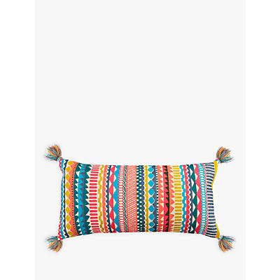 John Lewis Fusion Geo Embroidery Cushion, Multi