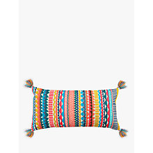 Buy John Lewis Fusion Geo Embroidery Cushion, Multi Online at johnlewis.com