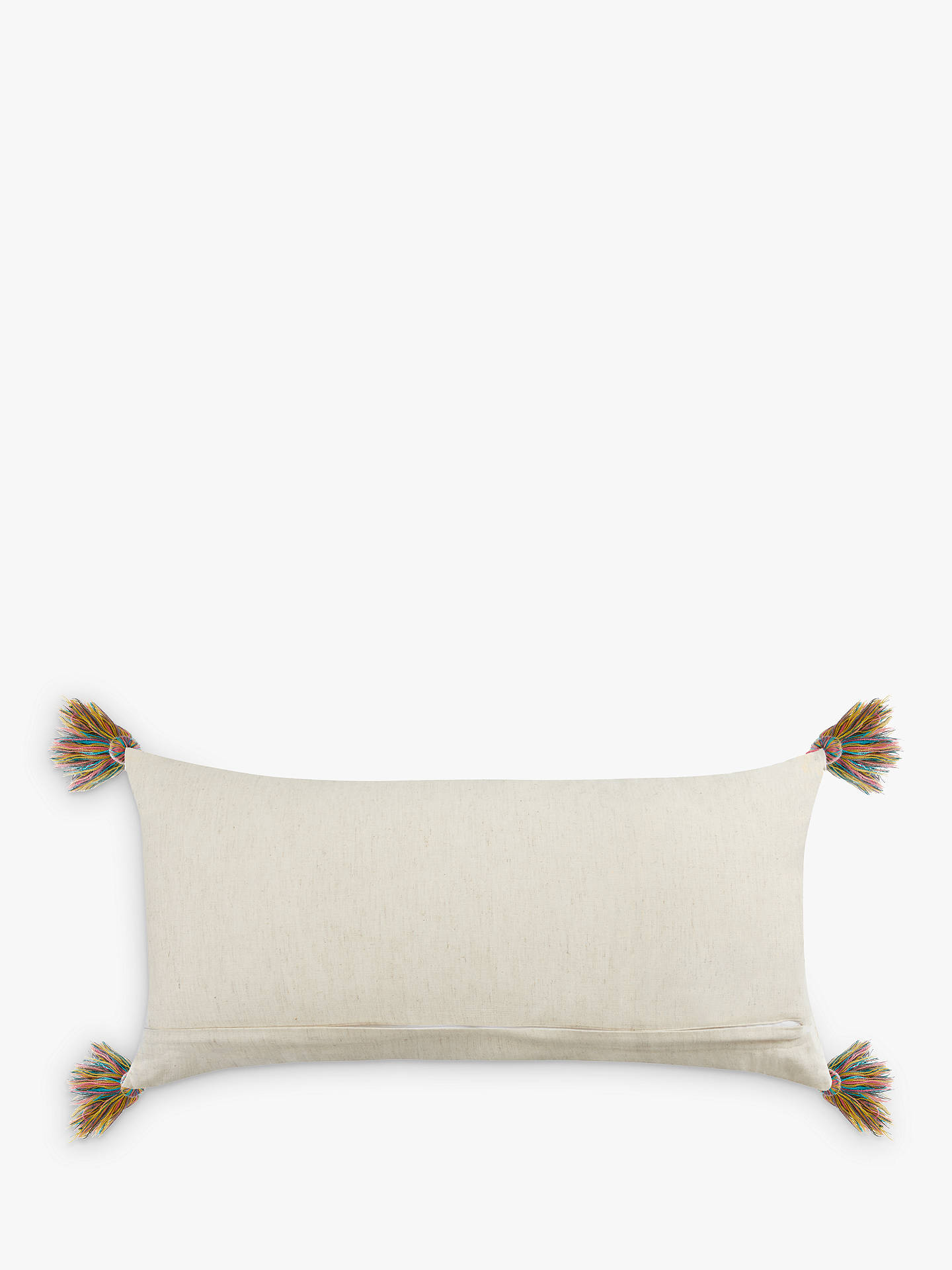 BuyJohn Lewis & Partners Fusion Geo Embroidery Cushion, Multi Online at johnlewis.com