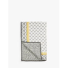 Buy John Lewis Fusion Orchha Quilted Bedspread, Saffron / Grey Online at johnlewis.com