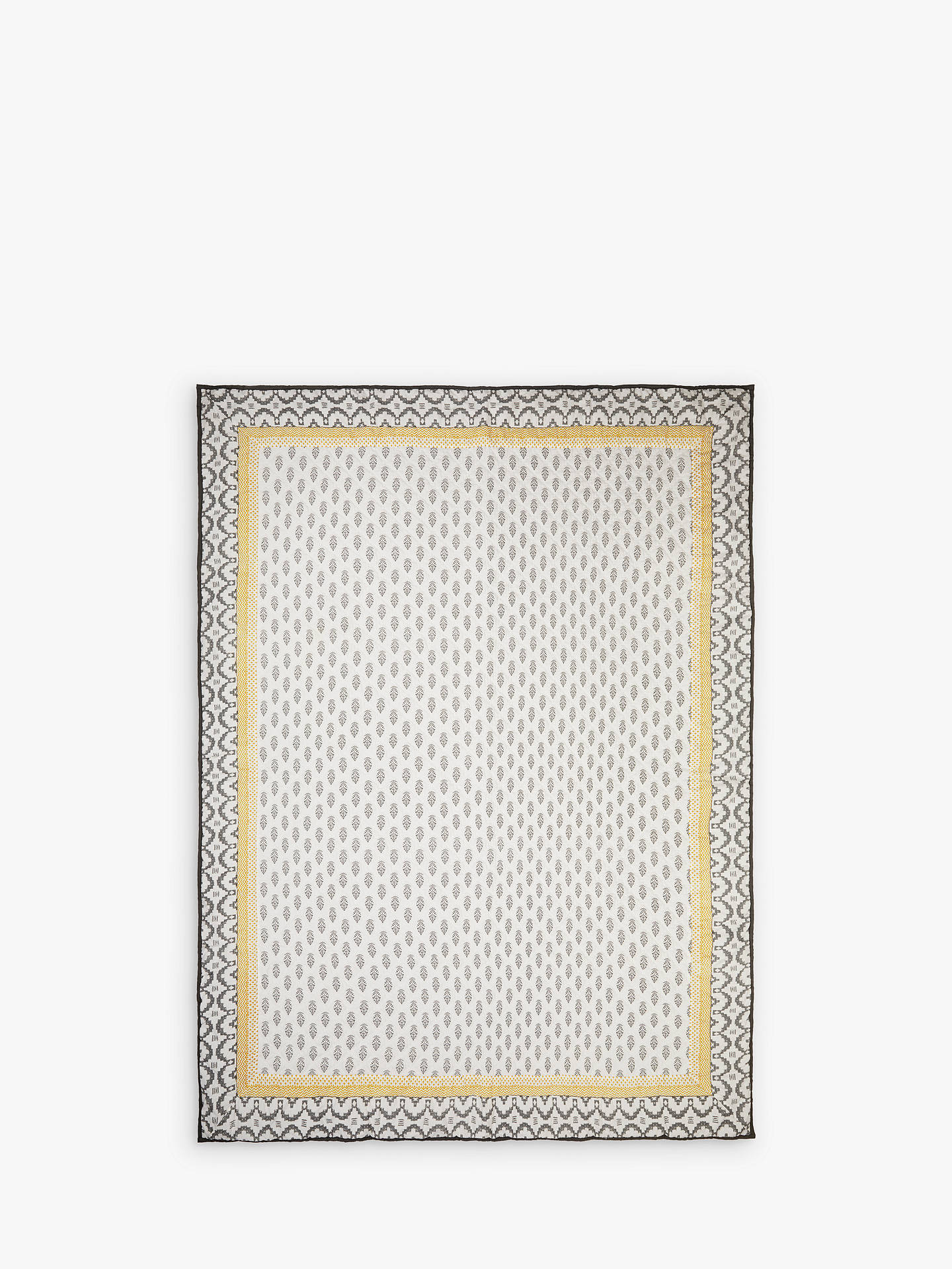 BuyJohn Lewis & Partners Fusion Orchha Quilted Bedspread, Saffron / Grey Online at johnlewis.com
