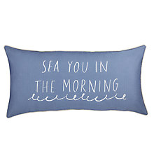 Buy John Lewis Coastal Sea You in the Morning Cushion Online at johnlewis.com
