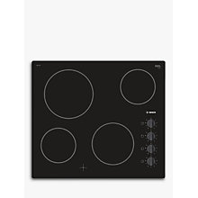 Buy Bosch Serie 2 PKE611CA1E Electric Ceramic Hob, Black Online at johnlewis.com