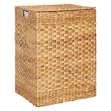 Buy John Lewis Water Hyacinth Double Laundry Basket, Brown Online at johnlewis.com